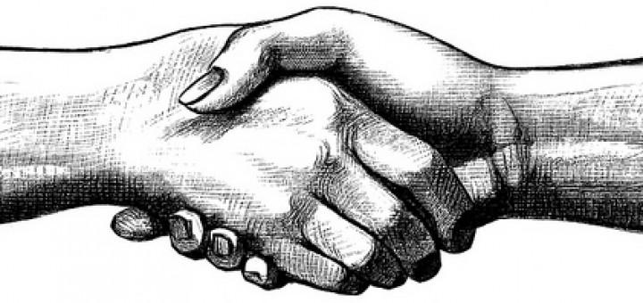 Illustration Poignée de main en entretien d'embauche