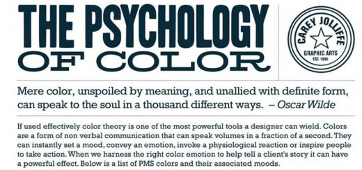 Illustration psychologie des couleurs